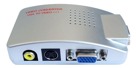 Conversor P/ Ligar Pc Tv De Tubo Converte Vga P/ Rca S-vídeo