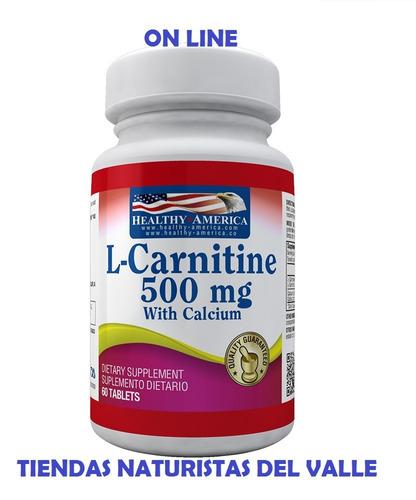 L- Carnitina 500mg X 60 Caplets De Healthy Sports