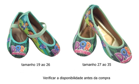 Sapatilha Dora Aventureira Festa Infantil Temático