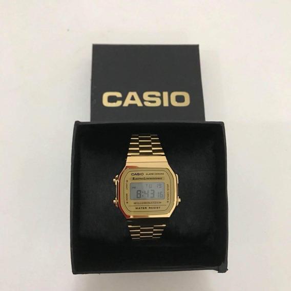 Relógio Casio Vintage Unissex Dourado Digital