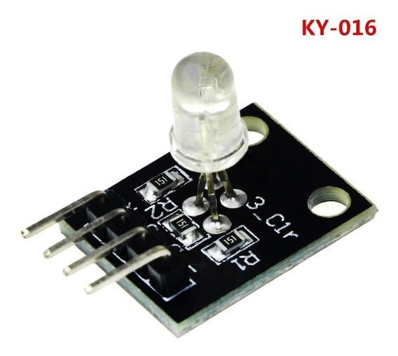 Ky-016 Módulo 3 Cores Rgb Led Arduino Automaçã Rapsberry Pic