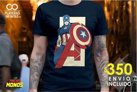 Playera Avengers Endgame - Capitán América - Envió Inc