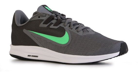 Zapatillas Nike Downshifter 9 Hombre Running Oficial Gris