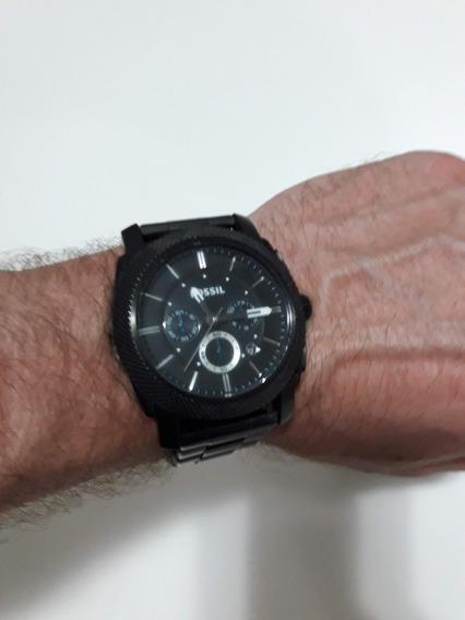 Relógio Fossil Fs4552 Preto Em Aço Inoxidável