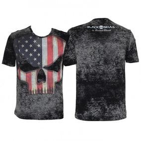 Camiseta Tshirt Branch Warren Black Skull Diversos Tamanhos