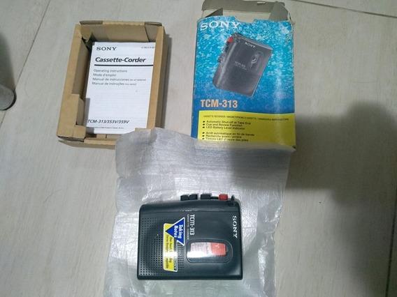 Sony Gravador Cassete Portátil Tcm-313 Nunca Usado