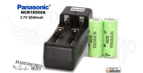 Kit Bateria Panasonic Ncr18500a + Carreg Para Taranis X-lite