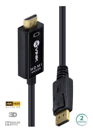 Cabo Displayport 1.3 Para Hdmi 2.0 4k 60hz Hdr Fhd 240hz