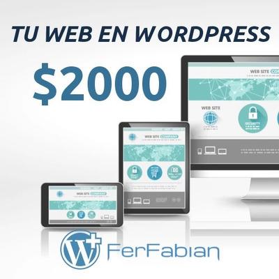 Diseño Web Página Económicas Y Autoadministrable Desde $2000