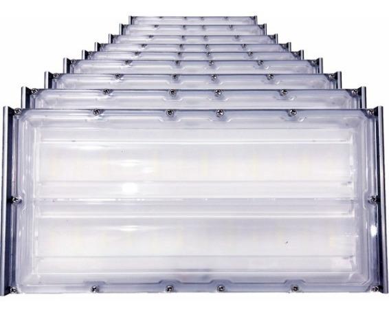 Kit 10 Refletor Led 100w 10.000 Lumens Branco Fr Bivolt Ip68