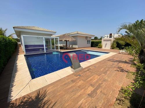 Casa Com 4 Dormitórios À Venda, 550 M² Por R$ 2.800.000,00 - Condomínio Fazenda Alvorada - Porto Feliz/sp - Ca0262