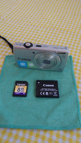 Câmera Canon Prata A2500