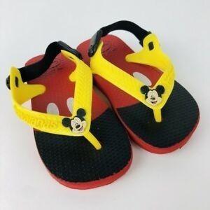Ojotas Havaianas - Modelo Baby Mickey Classic Fc Vermelho