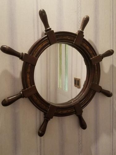 Imagen 1 de 7 de  Espejo Tipo Timón De Madera!