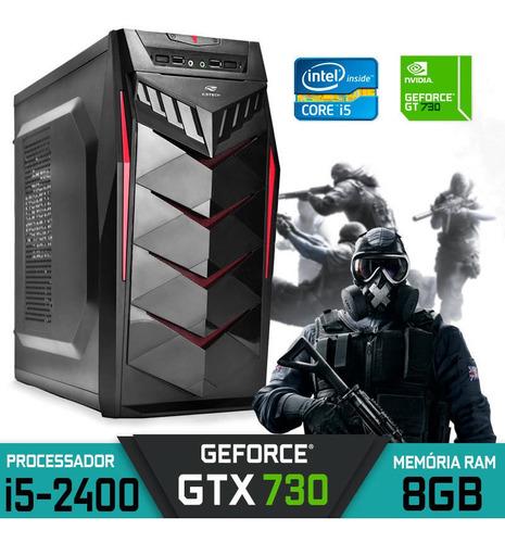 Imagem 1 de 1 de Pc Gamer Core I5 Gt 730 Ram 8gb Hd 1tb Ssd 120gb Win 10