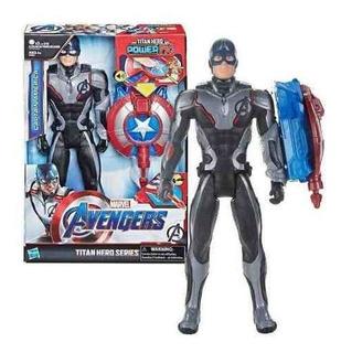 Capitán América Figura Con Accesorio Avengers Original E33