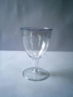 100unid Taças Cristal P/ Vinho Em Acrílico Descartáve 180ml