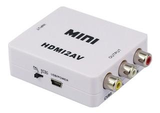 Conversor Hdmi A Rca Video Audio Chromecast Ps3 Ps4 Tv Tubo