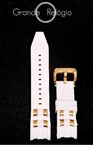 Pulseira Invicta Pro Driver Branca C/ Detalhes Dourado