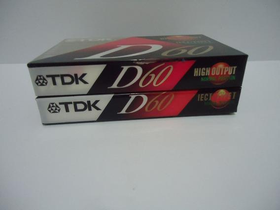 Fita K7 Tdk D60 Lacradas (2 Unidades)