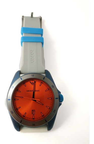 Reloj Armani Exchange Naranja Con Gris Original