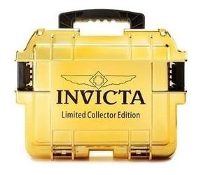 Maleta Invicta Dourada Espelhada - P/3 Rel. Slots,caixa,tank