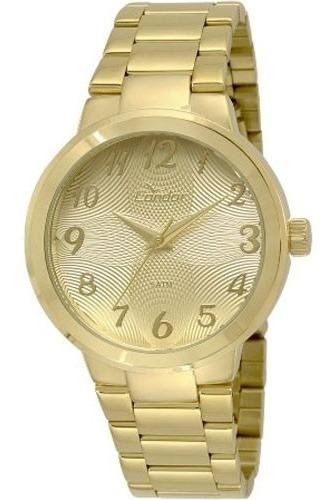 Relógio Condor Feminino Dourado 18k Illusion Co2036kov/4d