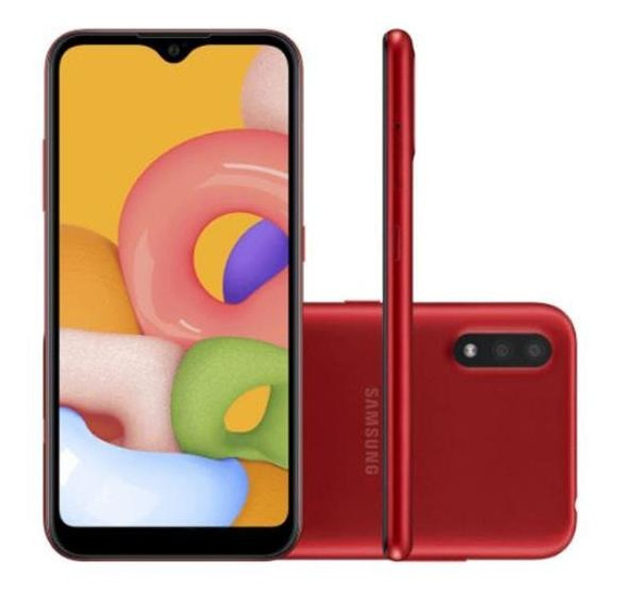 Smartphone Samsung A01 32gb 13mp+2mp 5,7 Vermelho