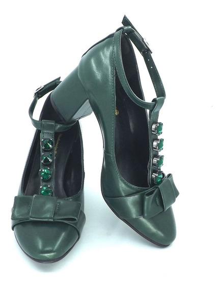 Sapato Melindrosa - Azul Jazz, Rosa Antigo Ou Verde Bosque