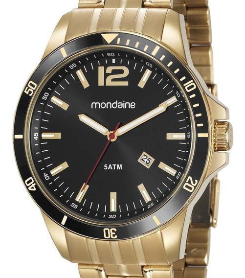 Relógio Mondaine Masculino 78757gpmvda2 Dourado Original