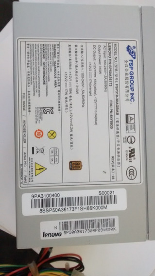Fonte Lenovo Thinkserver Ts-150 Fru 54y8935