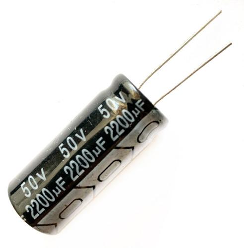Condensador Capacitor Filtro 2200uf X 50v 2 Piezas