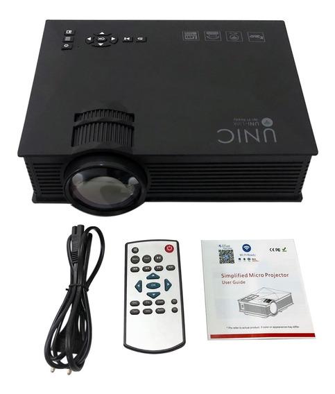 Mini Projetor Portatil Uc46 Led 130 Pol Wifi Data Show Filme