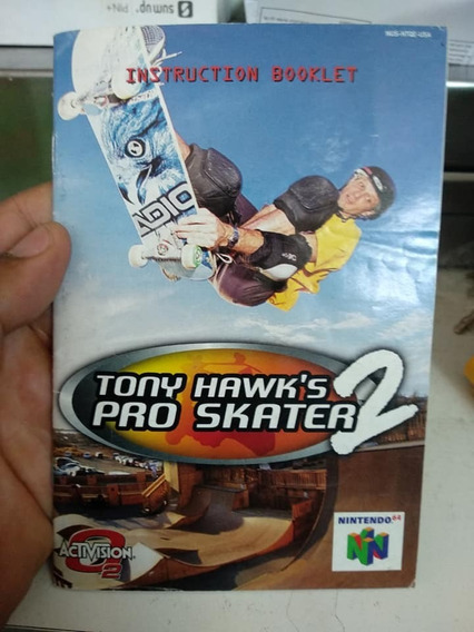 Manual Game Tony Hawk Pro Skate 2 N64 Nintendo 64
