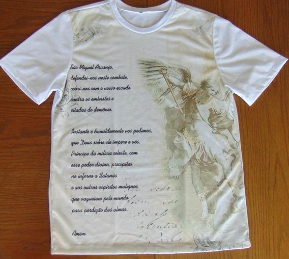 Camiseta Santa Sofia Moda Católica São Miguel Arcanjo Oração