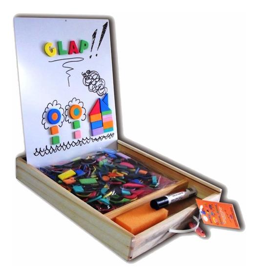 Pizarra Magnetica Imantada Caja Madera 31x25 Dobles Clap !!!