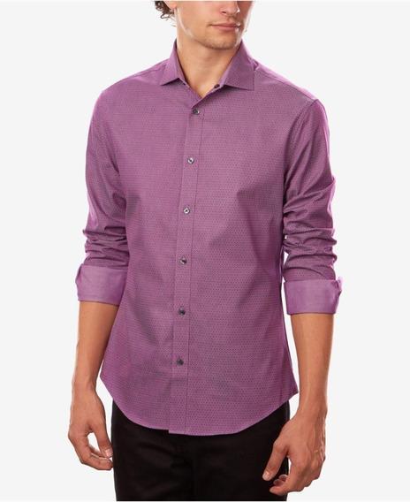 Camisa Super Slim Doble Vista Reversible Calvin Klein