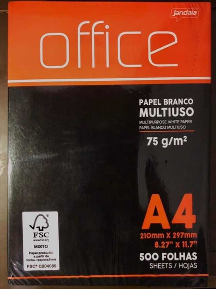 Caixa Papel A4 Office Jandaia Branco 75g/m² Com 2500 Fls
