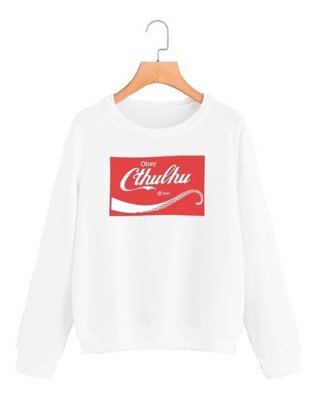 Buzo Buso Sweater Saco Mujer Coca Cola Obay Cthulhu