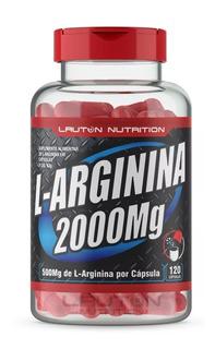 L - Arginina 2000 Mg C/ 120 Capsulas Promoção + Brinde