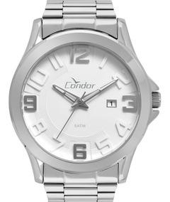 Relógio Condor Masculino Prateado Original Nfe Co2115ksr/3k