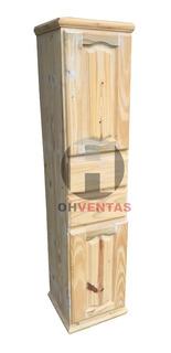 Despensero 40 Cm Escobero Organizador Pino Puertas Y Cajon