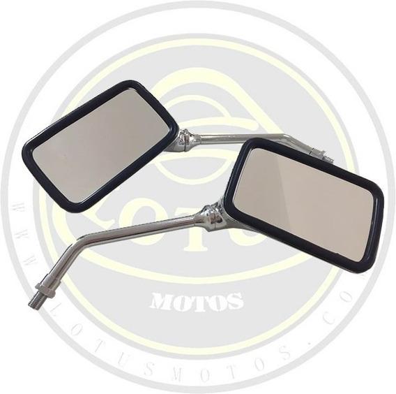 Par Espelho Retrovisor Cromado Dafra Maxsym 400 Original Convexo 5169 Com Nota