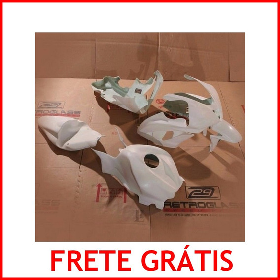 Kit Carenagem Retroglass Fibra Corrida Pista Cbr 600 Rr