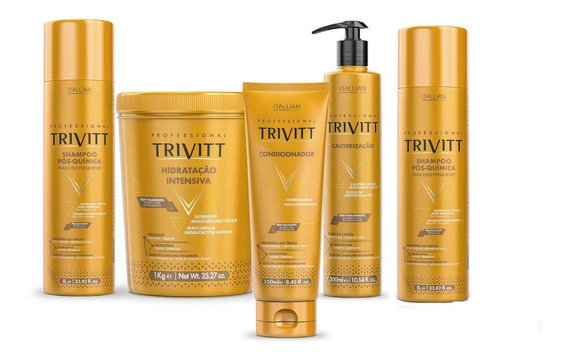 Itallian Trivitt Kit Cauterização Profissional (5 Produtos)