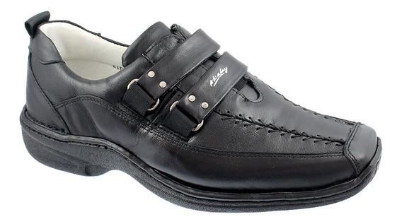 Sapato Linha Conforto Antistress Relax Couro Legitimo 0404