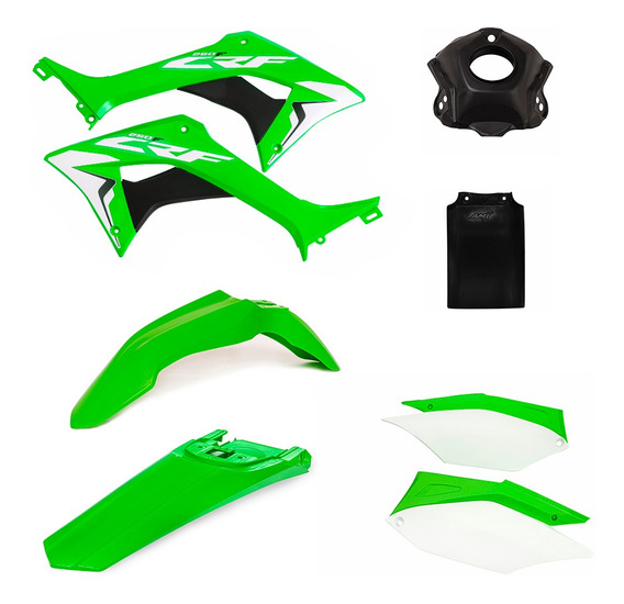 Kit Plastico Carenagens Crf-250f Verde / Branco Amx