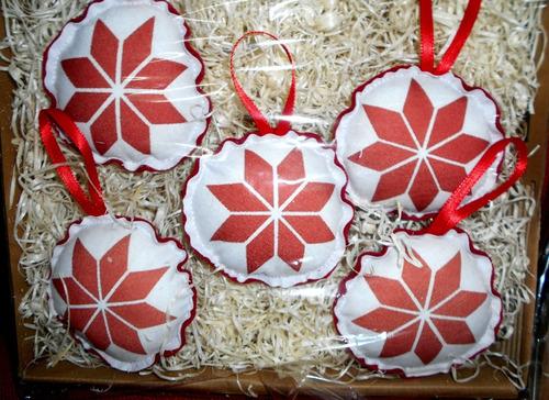 Imagen 1 de 2 de Adornos Navideños Pack Estrella Federal Peronista