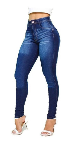Calça Jeans Feminina Cintura Alta Lycra Premium