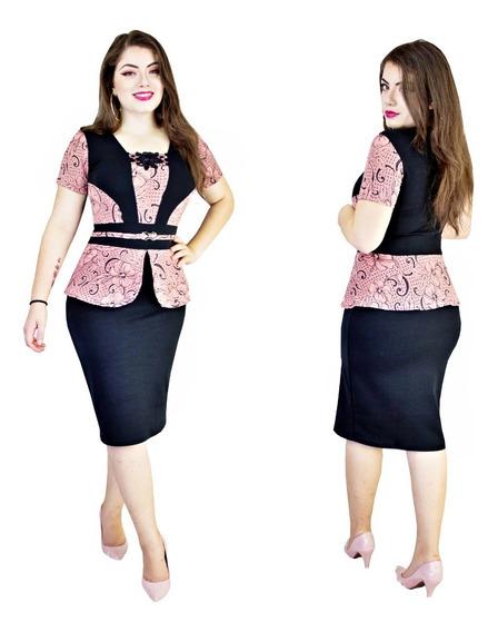 Vestido Tubinho Moda Evangélica Feminina Rosimar
